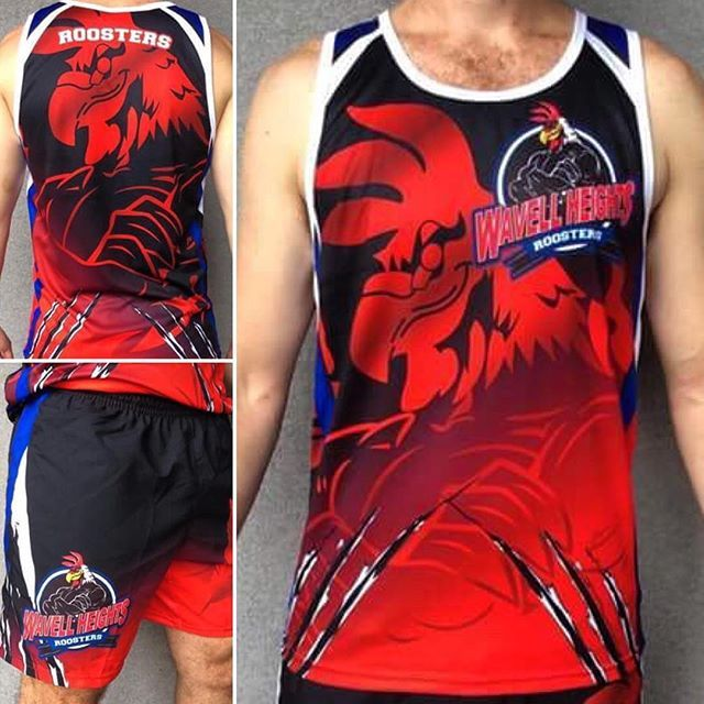 Get creative with your team wear. Bespoke touch singlets designed and manufactured in Australia by @subxsports Get in contact! We cater to all sports codes 🏉🏅 #subxsports #teamwear  #sportsclothing #wemakeclothes #sublimation #supportlocalbusiness #madeinqld #australianmade #touchfooty #touchfootball #singlet #shirt #sports #roosters