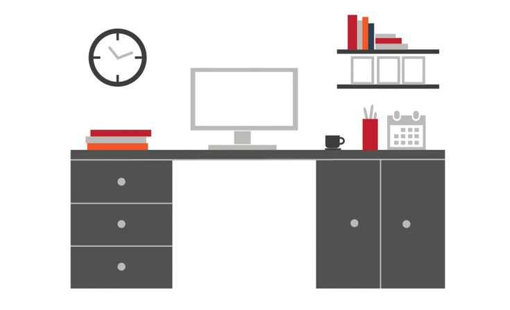 Office layout prezi template with vector images - free to download at www.jim-harvey.com