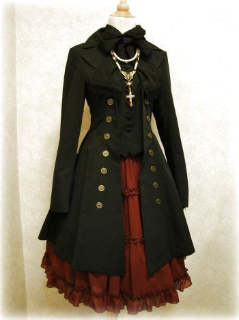 lush layers : repurpose leather vest, wool coat (needs structure) & princess dress. pair with black leather gloves, boots & hood