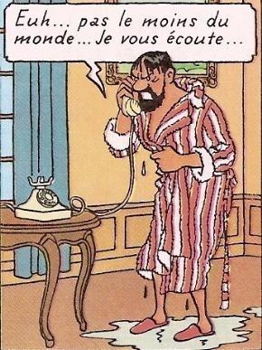 Captain Haddock in his bathrobe • Marlinspike Hall • Tintin, Herge j'aime