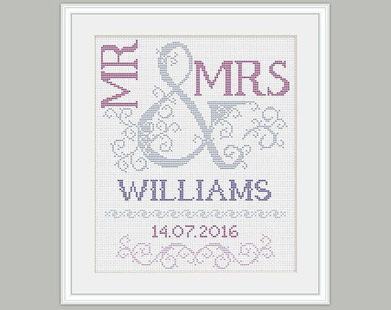 cross stitch pattern wedding gift scheme for stitch pattern embroidery bridal cross stitch pattern pdf format instant download