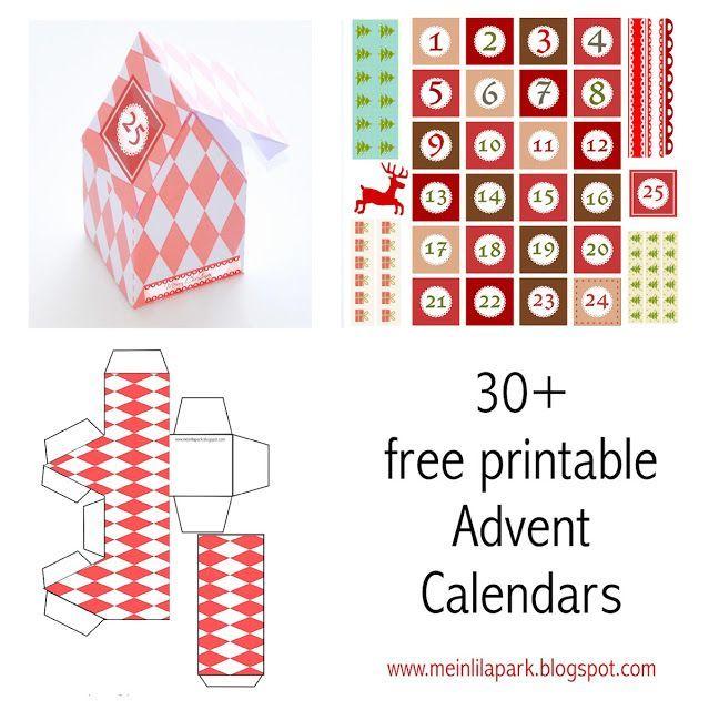30+ free printable Advent Calendar templates ...