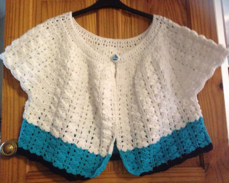 My beautiful crochet cardigan with homemade button from the Simply Crochet magazine