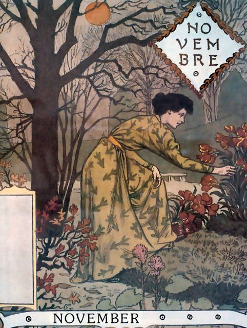 """"""" Eugène Grasset La Belle Jardiniere – November 1896 More Art Nouveau """""""