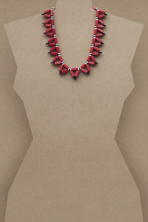 Miriam Red Necklace #necklace #jewellery #jewelry #fashionaccessories #accessories #beadednecklace #ceramicbeads #ethnicstyle #bohostyle