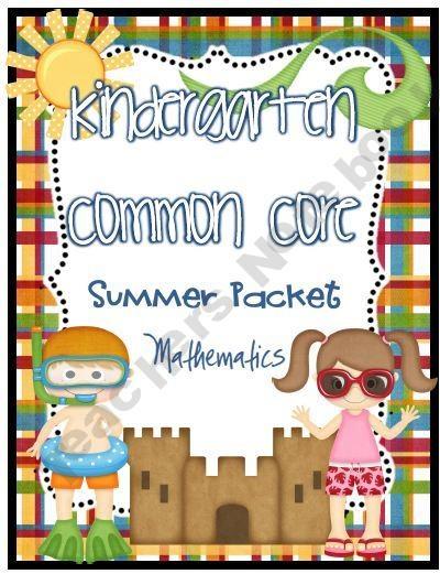 Kindergarten Calendar Time Common Core : Kindergarten common core summer review practice pages
