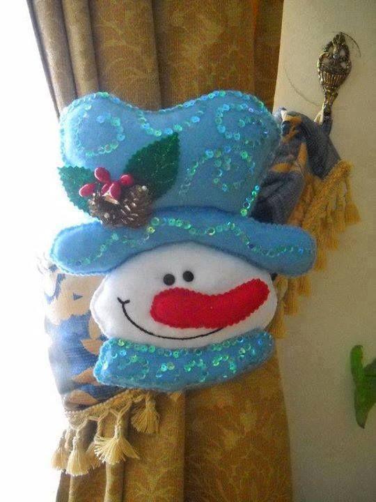 Nieve cortinero snowman en fieltro pinterest snowman - Bolas de navidad de fieltro ...