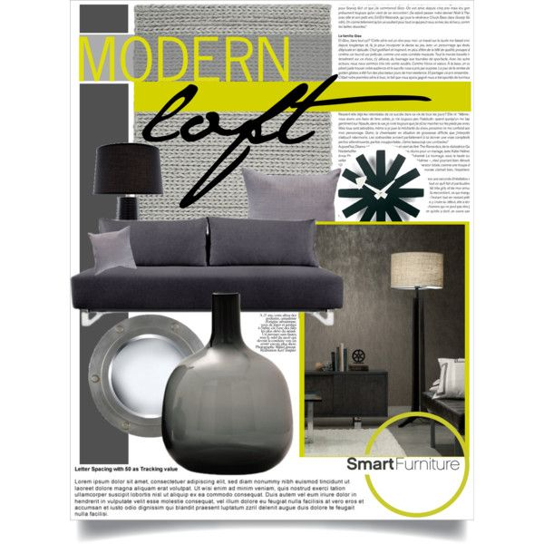 """Modern Loft in Grey with Smart Furniture"" by i-t-chic on Polyvore"