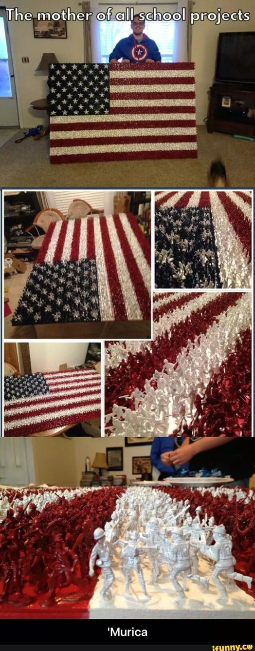 Cool American Flag work made with toy soldiers                              …