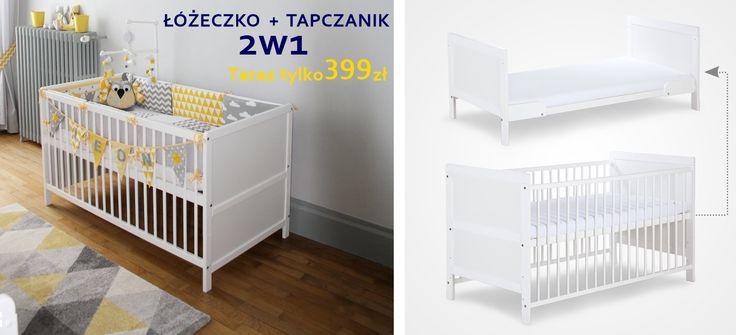 Piękne łóżeczko+Tapczanik Przemek 140x70 - mamaania.com.pl