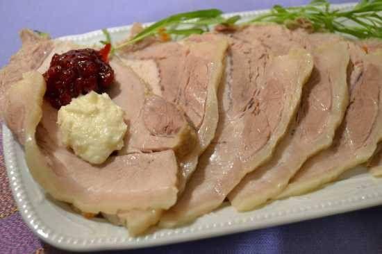 Ветчина из свиной корейки в собственном соку «sous-vide»