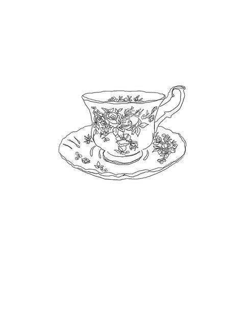 Stirring Scribbles Single Teacup by Miss Sammie Designs, via Flickr