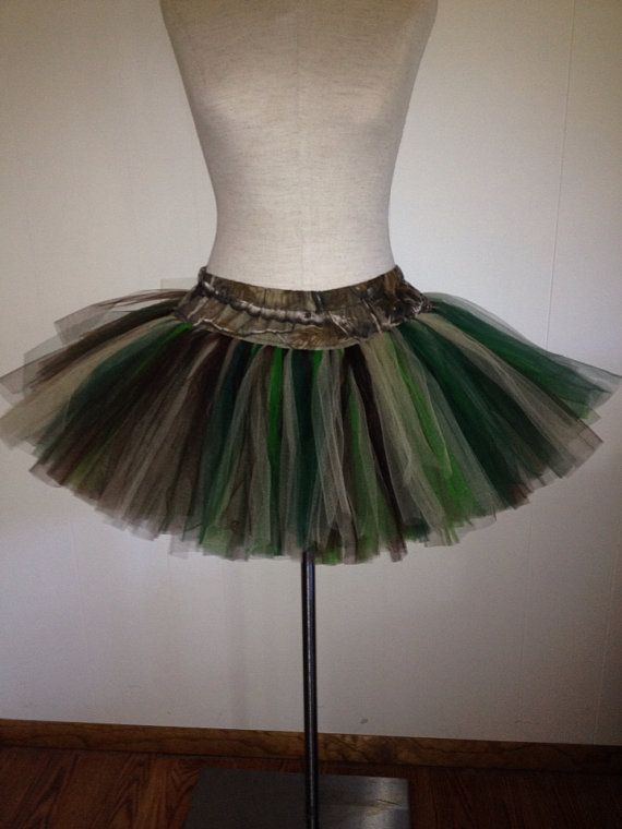 Supreme Fluffy Girl Adult Mud Run Camo TuTu by lookatmybooties, $55.00