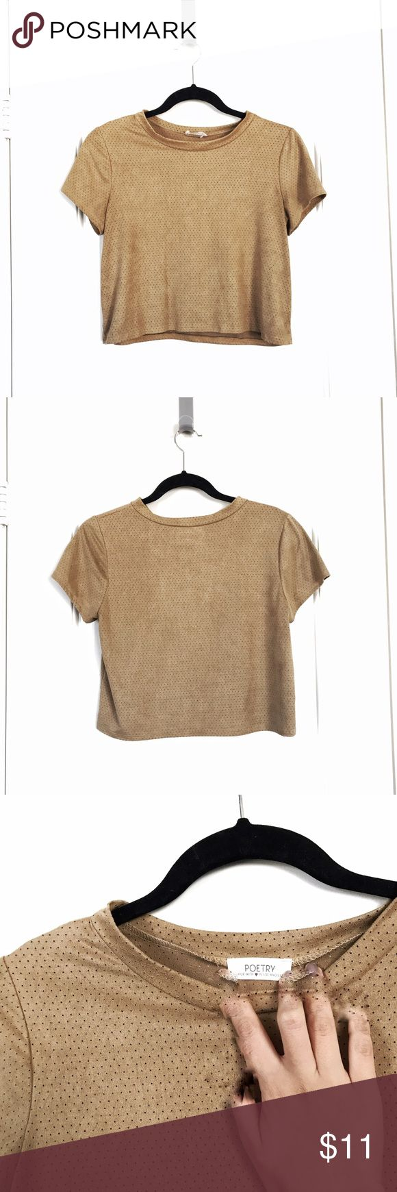 Camel crop top * suede-like material * in gently worn condition * size L but fits more like a S/M (which is why this is listed as M) * not listed brand; tagged for exposure * bundle up for discounts   Special Offer: purchase $10+ from my closet and get another item listed $10 or less for free 💫 if interested, just let me know which one you want and I'll be happy to gift it for you Urban Outfitters Tops Crop Tops