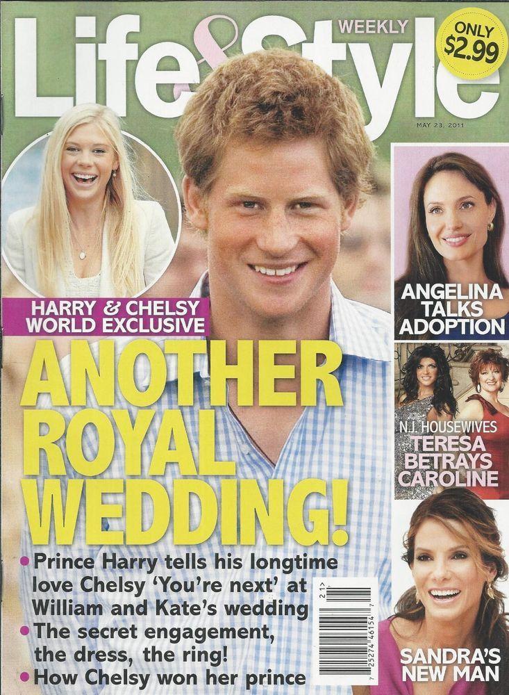 Life and Style magazine Prince Harry Angelina Jolie Housewives Sandra Bullock