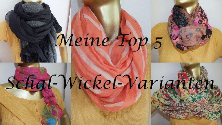 Schal binden - Meine Top 5 Wickel Varianten