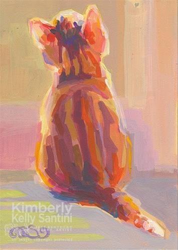 "Daily Paintworks - ""Tabby Kit"" - Original Fine Art for Sale - © Kimberly Santini"