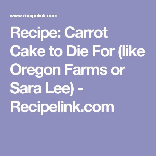 Oregon Farms Carrot Cake