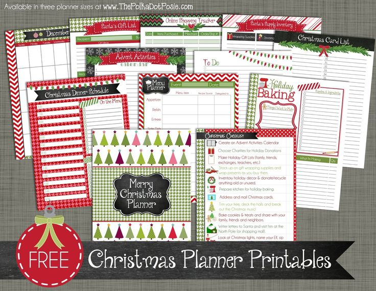 Free Christmas Printables - Christmas Planner Printables - From The Polka Dot Posie