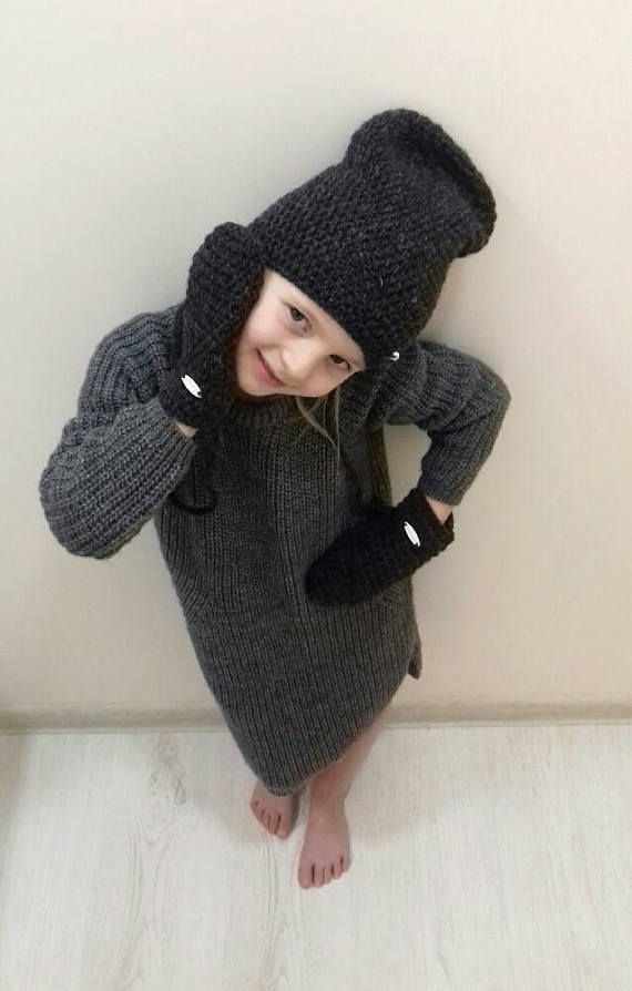 Hey, I found this really awesome Etsy listing at https://www.etsy.com/listing/568808128/wool-girls-hat-and-mitts-boys-grey