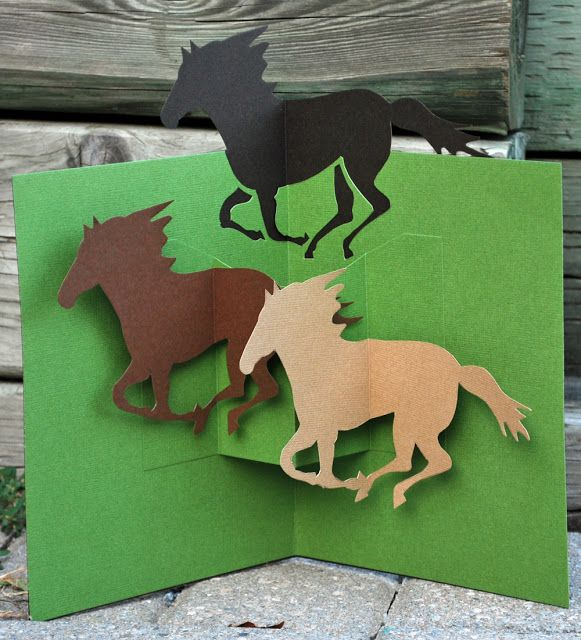 Random Bursts of Tangential Thought: Happy Horsey Birthday: Horse Pop-Up Card