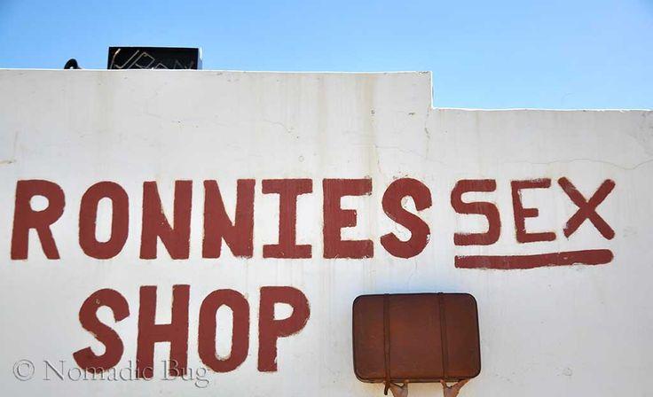 Nomadic Existence Mascot, Ronnies Sex Shop, Route 62, Klein Karoo, South Africa  Landmarks Nomadic Existence