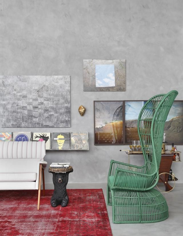 Outstanding Eclectic Interior Idea For Striking Living Room: Artistic  Mostra Black 2012 By Guilherme Torres Home Living Room Wall Art And Media  Covering The ... Design Ideas