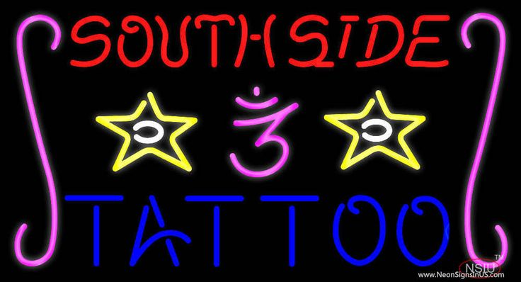 Southside Tattoo Real Neon Glass Tube Neon Sign,Affordable and durable,Made in USA,if you want to get it ,please click the visit button or go to my website,you can get everything neon from us. based in CA USA, free shipping and 1 year warranty , 24/7 service