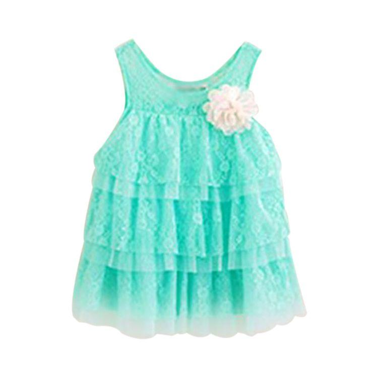 Infant Baby Girls Lace Dresses Children Clothing For Summer Kids Princess Flower Tutu Dresses