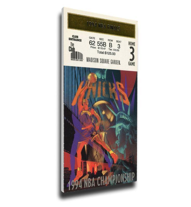 New York Knicks Wall Art - 1994 NBA Finals Canvas Mega Ticket, Game 5