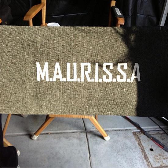 Maurissa Tancharoen's director's chair, S.H.I.E.L.D.