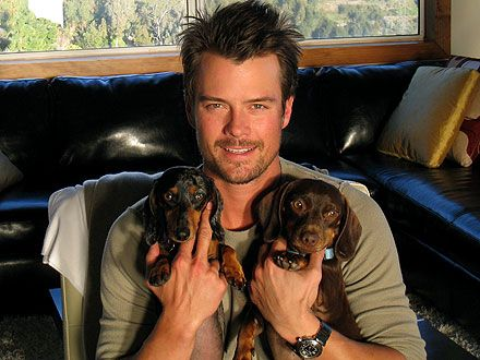 Josh Duhamel has more than one fabulous weenie!! :) :) ~ on a campaign to raise awareness about pet adoption.
