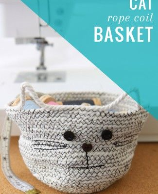 DIY Cat Rope Coil Basket | Henry Happened