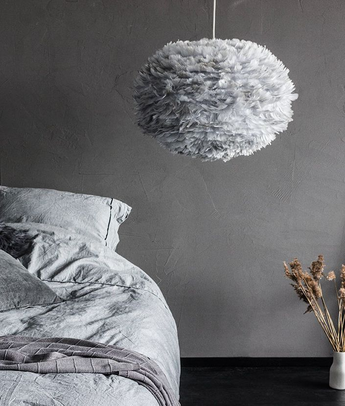 These VITA EOS feather light shades are stunning. Make an impact in any space with these handcrafted, goose feather lamp shades.