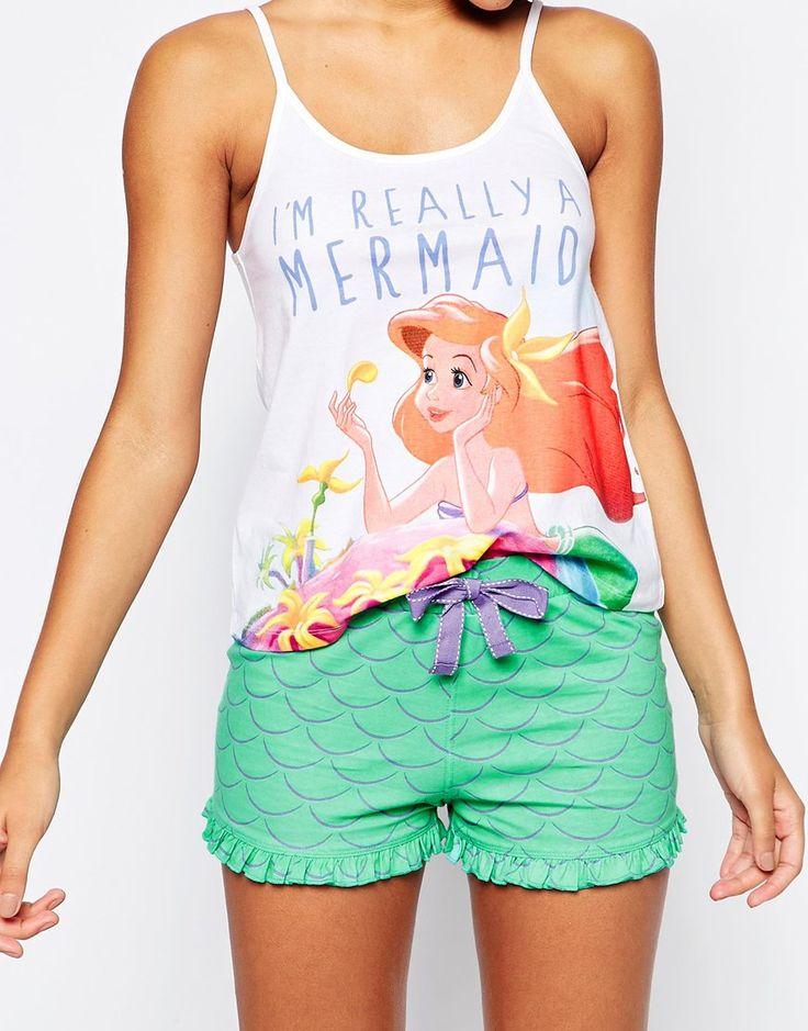 Missimo Disney Im A Mermaid Pajama Short Set