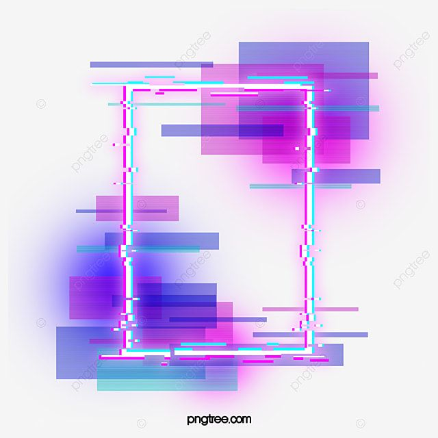 Purple Faulty Neon Border Holographic Glitch Lamp Effect Png Transparent Clipart Image And Psd File For Free Download In 2021 Neon Png Abstract Iphone Wallpaper Glitch