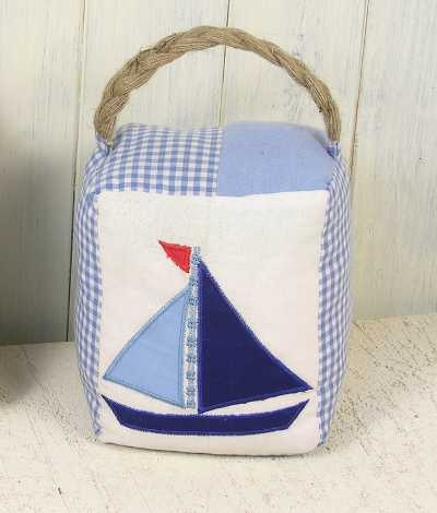 Nautical Doorstop - change the block, change the season and the mood......Xmas, Fall or your fav quilt block....choice is yours!