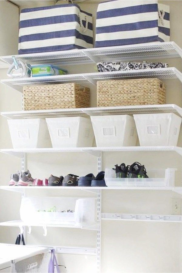 Maximizing Space In A Small House With No Storage Beautiful Organized Shelves To Create More O Small House Storage Room Organization Small Space Organization