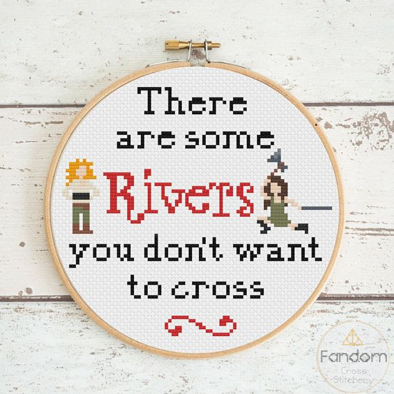 River Song River Tam Firefly Doctor Who Cross Stitch Pattern PDF | Download | Geek Cross Stitch Pattern | Firefly Cross Stitch Pattern
