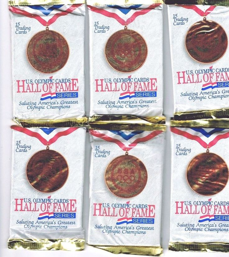 U.S.A. Olympic Cards HALL OF FAME : 10 packs : 15 Cards each Sealed : 150 Cards