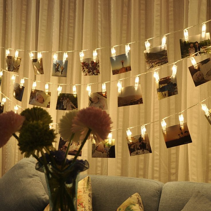Персонализированные Свадебные Украшения Звездное Фото Держатель Строки Забронировать Комнату Декор Клип Окно Рождество Центральные Батареи