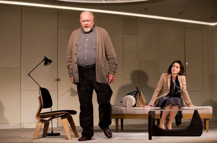 Owen Roe and Fiona Bell in The Father by Florian Zeller in a translation by Christopher Hampton.  Picture by Pat Redmond