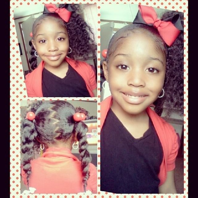 Wondrous 1000 Images About Natural Kids Pig Ponytails On Pinterest Two Hairstyles For Women Draintrainus