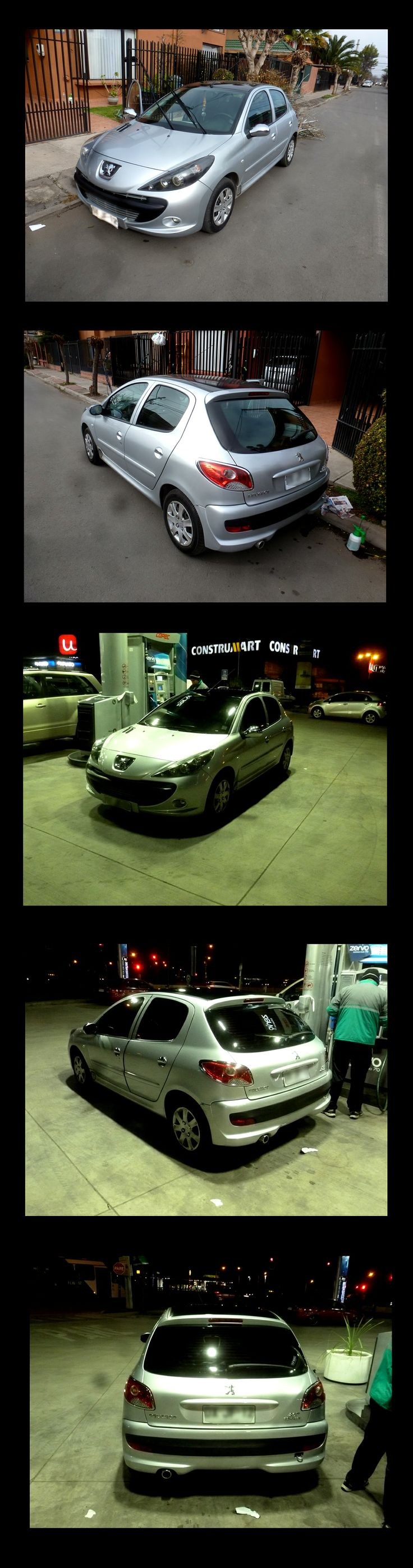 Auto Polarizado completo papel Con Filtro UV  Peugeot 207