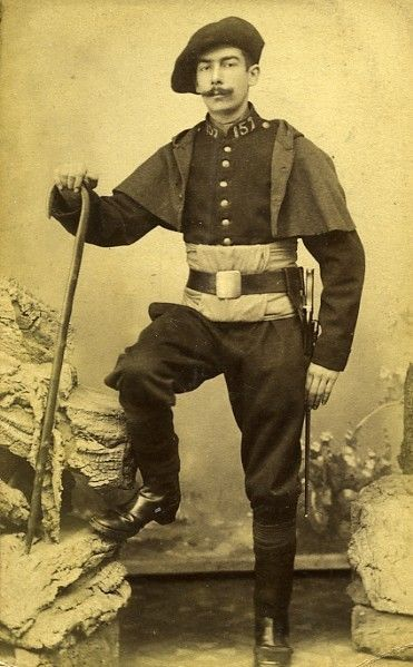 Chasseur Alpin Portrait Meudon France Old CDV Photo Delaporte 1875