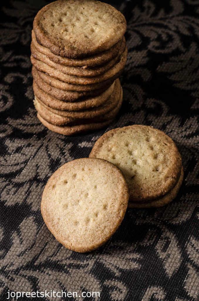 Eggless Butter & Cumin Seeds Biscuits / Easy Butter Cookies Recipe
