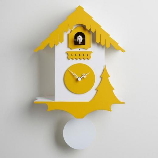 Les 25 meilleures id es concernant horloge coucou sur for Grosse pendule murale design