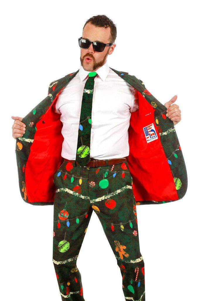 Pre-Order - Christmas Tree Camo Ugly Sweater Suit - Delivery by November 2016