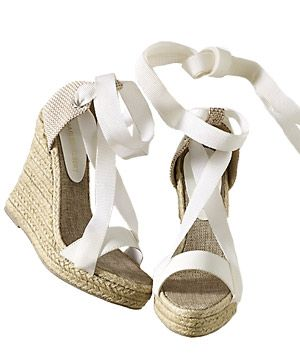 Spiegel's Ankle-Tie Wedges.  Looking for some fun espadrilles for summer!