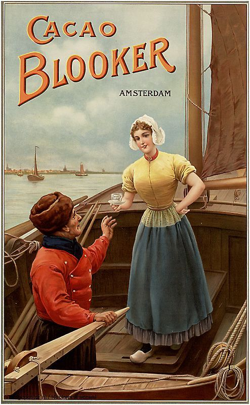 Reclame posters | 1900-1925 | Cacao Blooker, Amsterdam